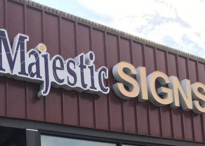 Majestic Signs Storefront Sign