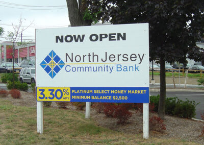 Bank Post & Panel Sign