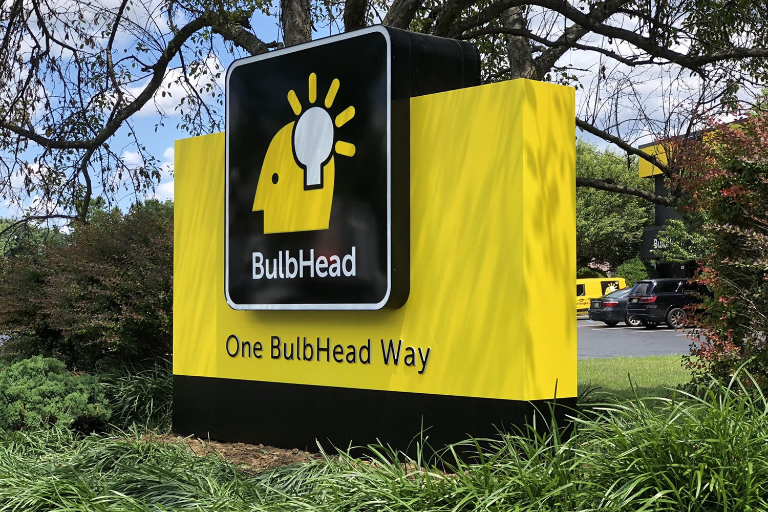 BulbHead Monument Sign