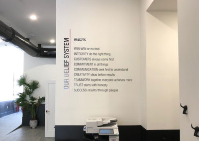 Company Values Wall Graphic