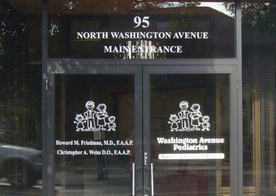 Door Vinyl Logo Address