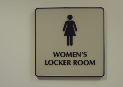 Gym Locker Room Sign