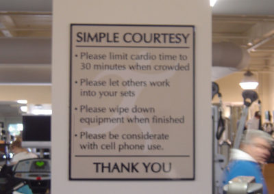 Gym Wall Sign
