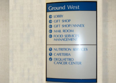 Hospital wayfinding sign