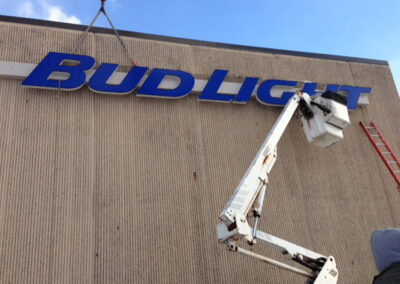 Install Bud Light Sign