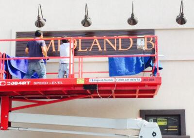 Install Midland Panel Sign