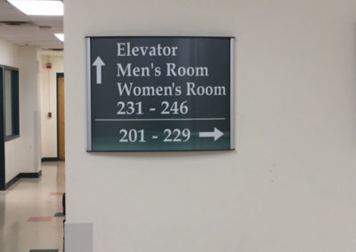 Interior Wayfinding Sign
