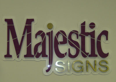 Dimensional Acrylic Reception Sign