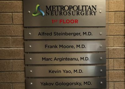 Metallic Directory Wayfinding Sign