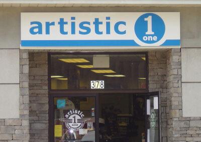 Panel Sign with door vinyl