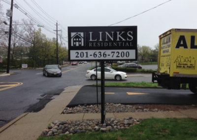 Real Estate Light Box Pole Sign