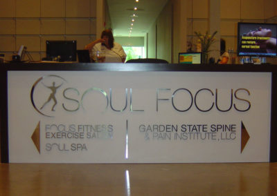 Reception Desk Branding Sign