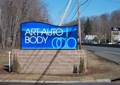 Auto Monument Sign
